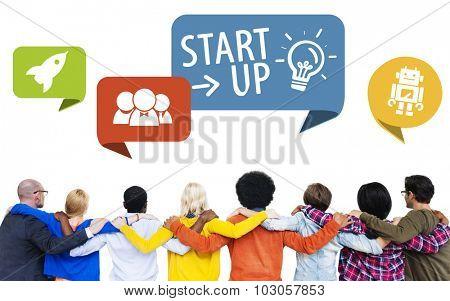 Diversity People Start up Teamwork Friendship Concept