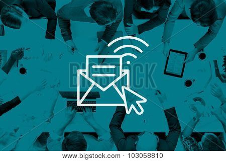 Communication Online Messaging Hotspot Network Concept