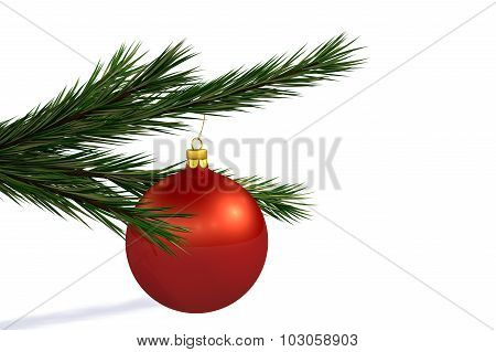 Red Christmas Decoration Ball