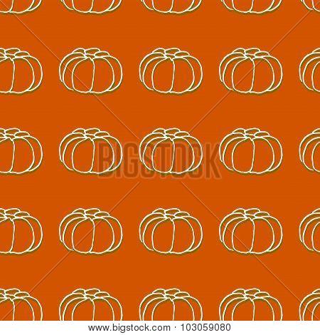 Seamless pattern of autumn pumpkins. Harvest of pumpkins.