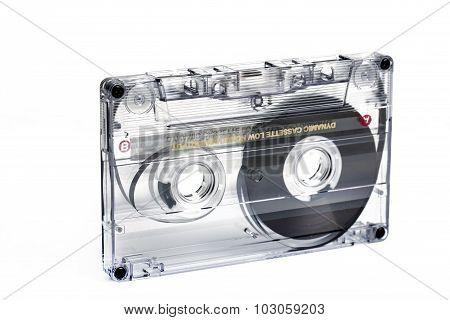 Close Up Of Vintage Audio Tape Cassette