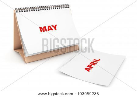 Folding Calendar With May Month Page