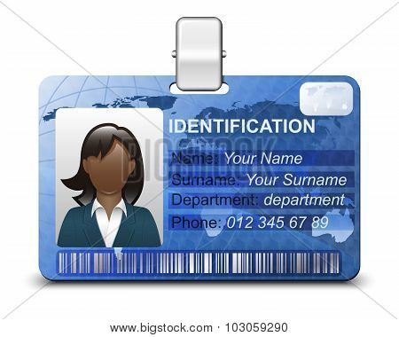 Identification Card Icon. Vector