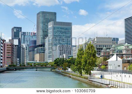Osaka downtown skyline