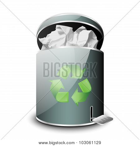 Full Trash Icon. Vector