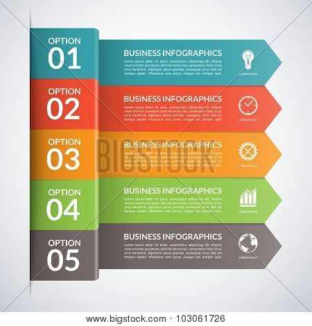 Vector arrow business infographics template