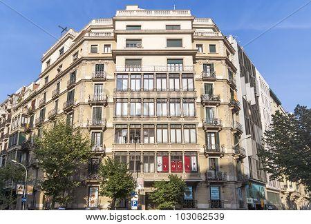 Typical Landscape Of Barcelona