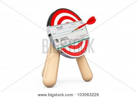 Bank Check In Center Of Archery Target