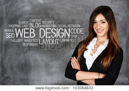 Young woman who works as a web designer