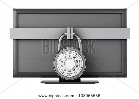 Television With Padlock