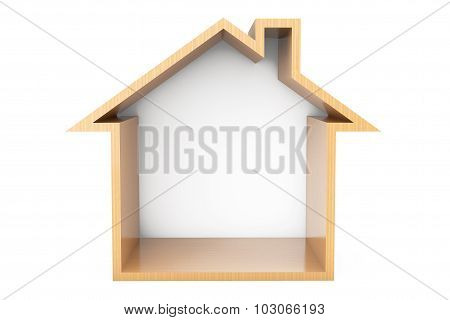 Wooden House Outline