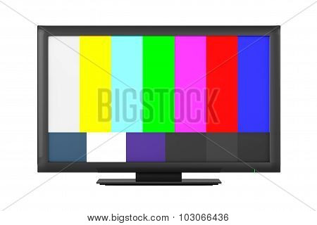 Television With Test Pattern