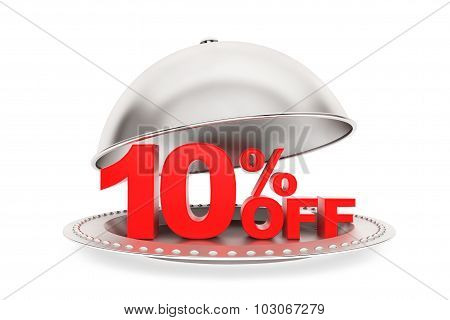 Restaurant Cloche With 10 Percent Off Sign
