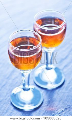 Alcohol Drink In Glasses