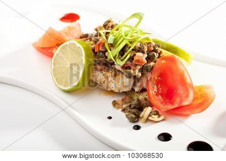 Fish with Capers and Lime
