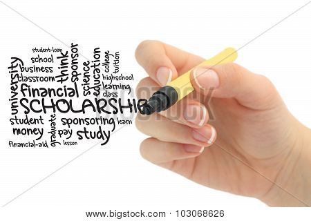 Scholarship word cloud