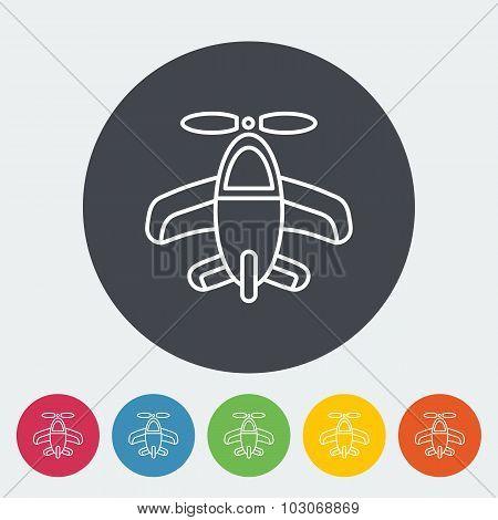 Airplane toy icon