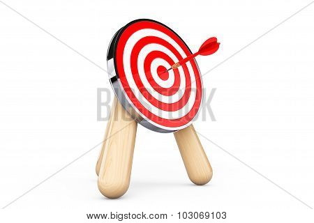 Archery Target With Dart In Center