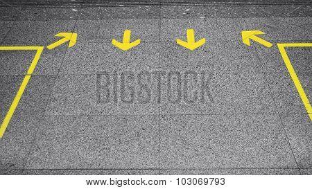Arrow Sign Direction On Floor