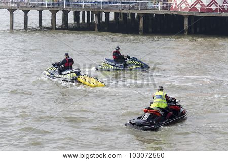 police on jet skis