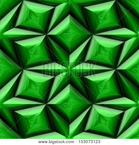 Green mayan ornament seamless texture or background. Abstract background stars.
