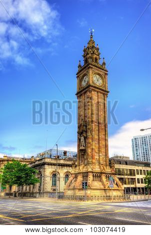 Albert Memorial Clock In Belfast - Northern Ireland