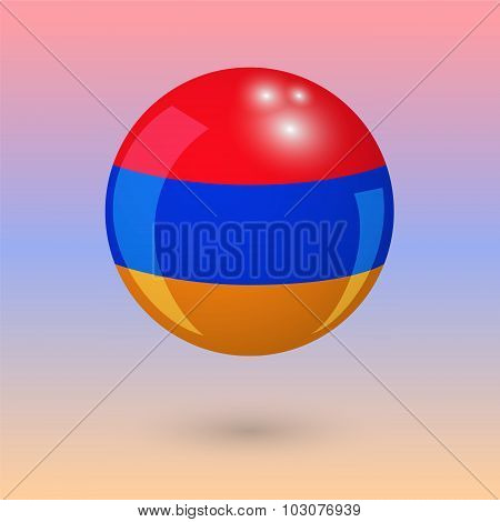 Armenia. Armenian Style. Ball. Vector Illustration