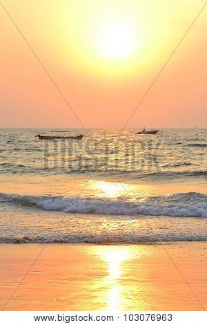 Indian Ocean Sunset , Goa