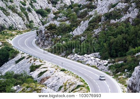 A Car On The Mountain Road