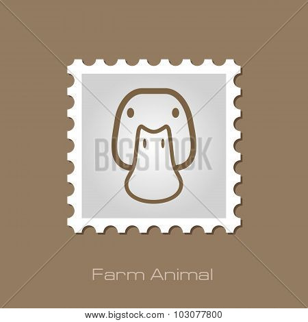 Duck stamp. Animal head vector illustration