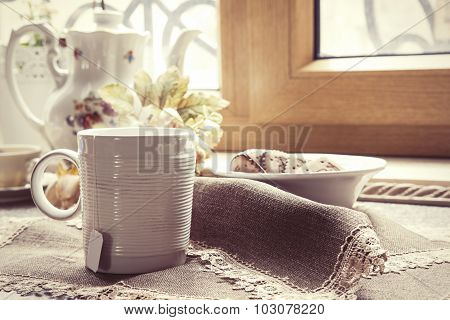 Tea Cup At Home, Vintage Style