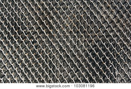 Metal Grid For Window Protection.