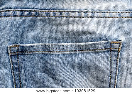 Close up Back Bag Jeans abstract background