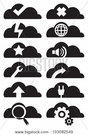 Cloud Computing Icon Set Vector Illustration