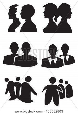 People Silhouette Design Vector Illustration