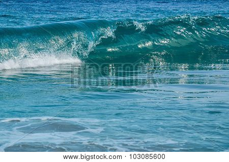 Background Blue Wave In The Ocean
