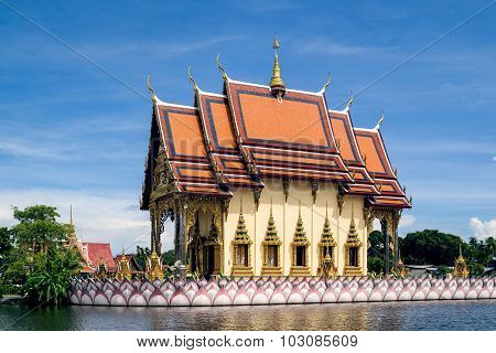 Temple In Thailand On Samui Island