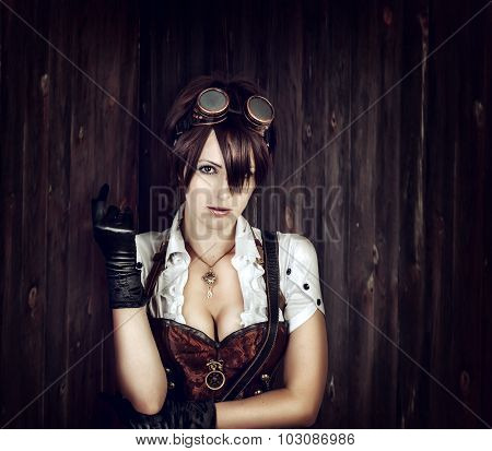 Portrait Of A Sexy Steampunk Woman
