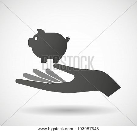 Isolated Hand Giving A Pig
