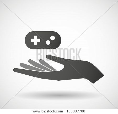 Isolated Hand Giving A Game Pad