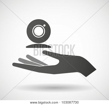 Isolated Hand Giving A Web Cam