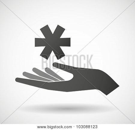 Isolated Hand Giving An Asterisk