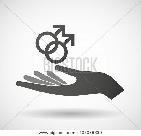 Isolated Hand Giving A Gay Sign