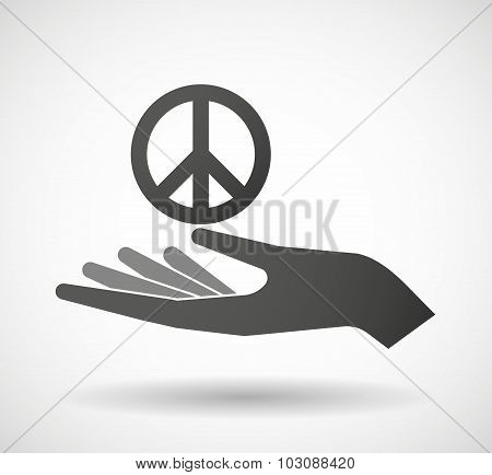 Isolated Hand Giving An Anarchy Sign