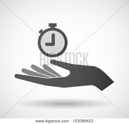 Isolated Hand Giving A Timer