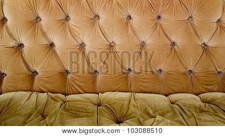Brown Couch Background Texture With Sunken Buttons