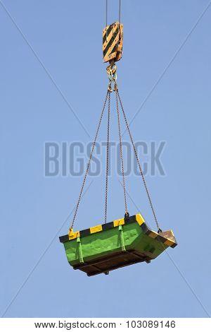 Green builders skip in the air