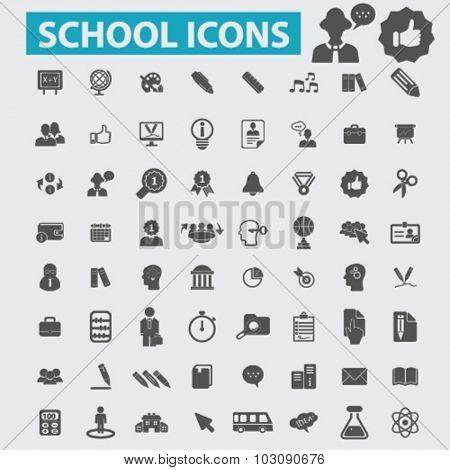 school, study, teacher, lesson icons