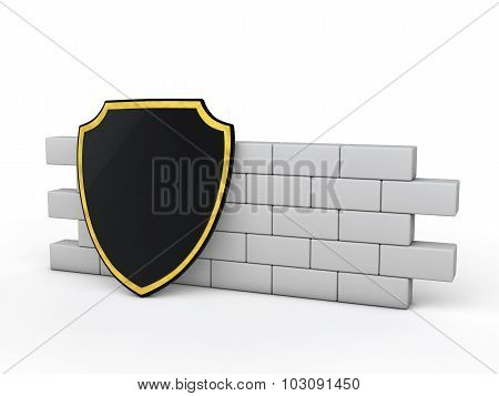3d shield and wall