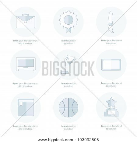 Set Of Flat School And Education Icons Set Line Icons Styles